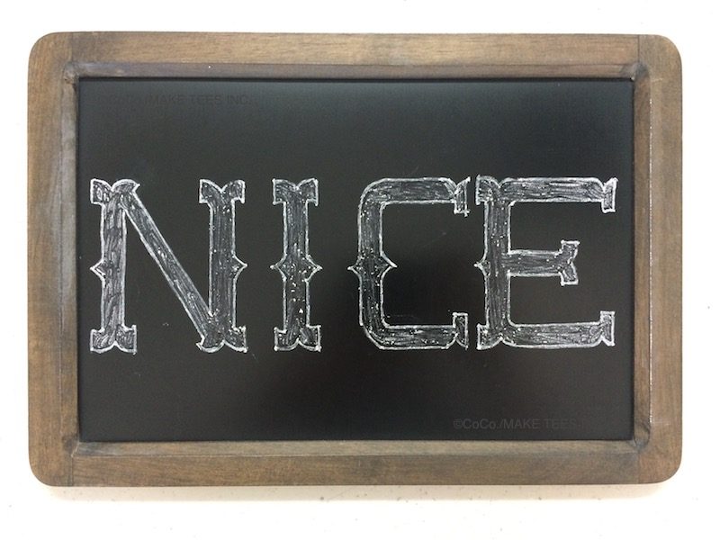 western,ウェスタン文字,株式会社MAKE TEES,MAKE TEES,黒板Tシャツ,黒板アート,黒板チョークアート,POP TEE,CoCo,黒板アーティスト