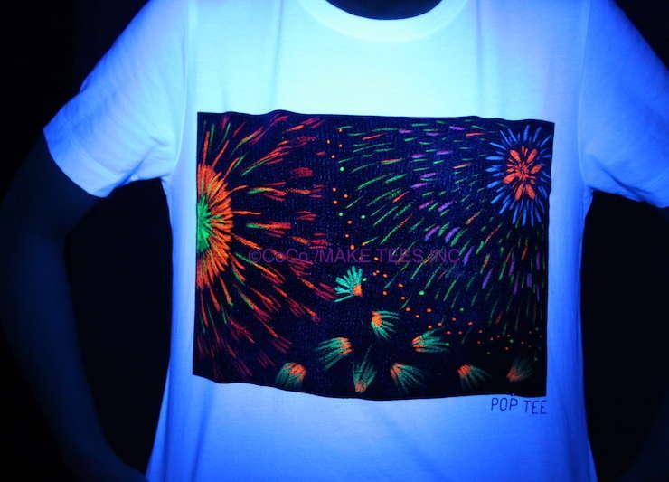 黒板TシャツPOP TEEで花火大会